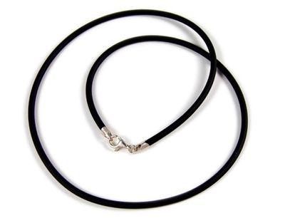 Minott Kautschuk-Band Kette Halsband schwarz Ø ca. 3mm 22073 – Bild 1