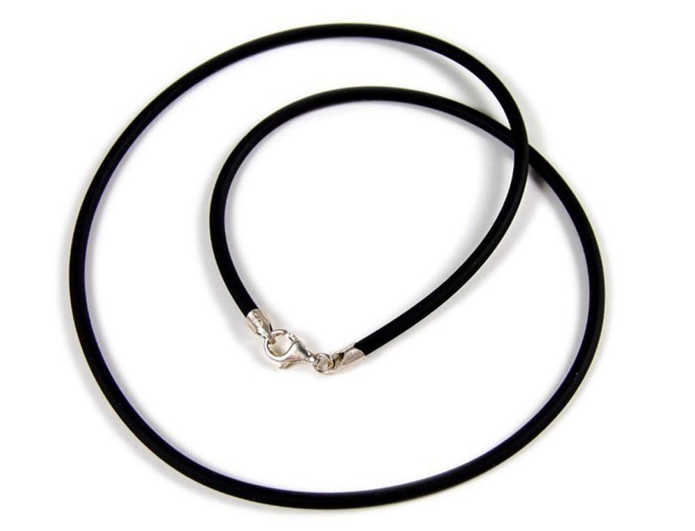 Kautschukband 50cm mit Metallanhänger MT-024541 Minott Damen Halskette