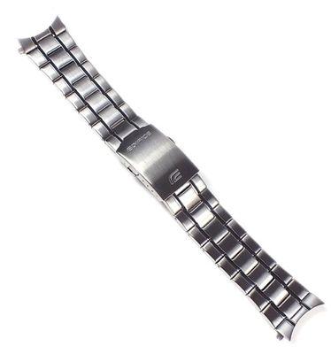 Casio  Ersatzband Uhrenarmband Edelstahl Silberfarben 23mm für EFR-512D – Bild 1