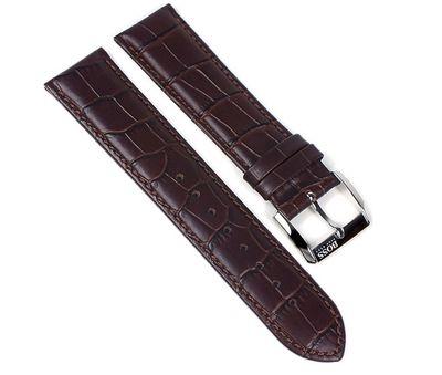 Hugo Boss Uhrenarmband Leder Band Dunkelbraun 22mm für 1512636