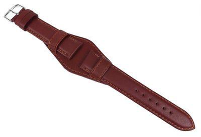 Uhrenarmband Leder | Band mit Unterlage Braun Eulit 22287S – Bild 2