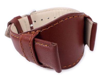 Uhrenarmband Leder | Band mit Unterlage Braun Eulit 22287S – Bild 1