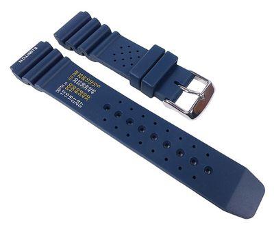 Silikon Sport Diver Ersatzband Uhrenarmband für Taucheruhren aus weichem Silikon Blau 22330S – Bild 1