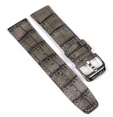 Festina Ersatzband 23mm | Leder kroko Optik gepolstert Grau F16573/2 – Bild 1