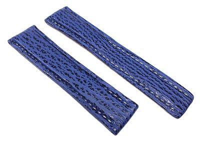 Neptun Uhrenarmband Haileder Blau passend zu Breitling (A) 22437F