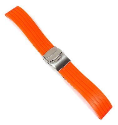 Uhrenarmband Silikon Neon Orange Minott Rubber 22443S – Bild 2