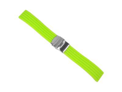 Minott Rubber Ersatzband Uhrenarmband Silikon Band Neon Grün 22457