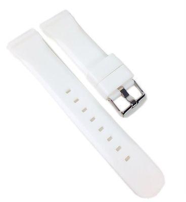 Minott Ersatzband Uhrenarmband Silikon Band Weiss 22459S