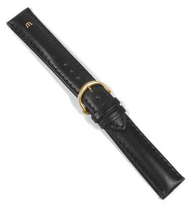 Maurice Lacroix Galant Uhrenarmband Leder matt schwarz 20mm 22495G – Bild 2