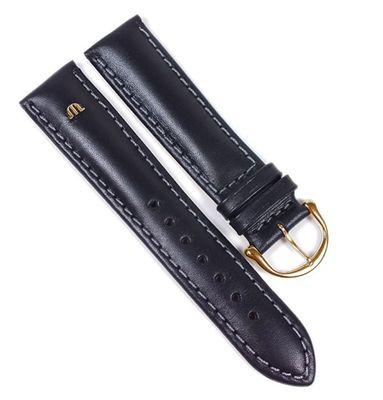 Maurice Lacroix Galant Marken Uhrenarmband Kalbsleder matt schwarz 20mm 22497G – Bild 1