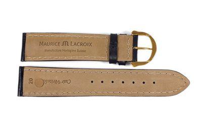 Maurice Lacroix Galant Marken Uhrenarmband Kalbsleder matt schwarz 20mm 22497G – Bild 3