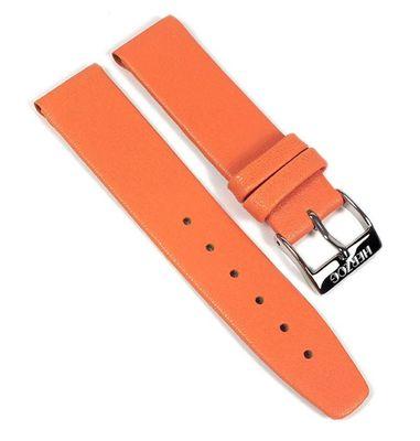 Kids-Antiallergie Leder Kinder Uhrenarmband Kalbleder extra kurz orange 22501S