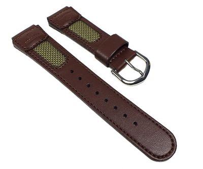 Casio Ersatzband Uhrenarmband Leder / Textil Band Braun für FT-620L-1 FT-620L – Bild 1