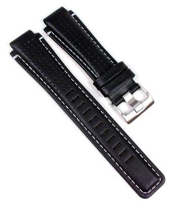Timex Ersatzband Uhrenarmband Leder schwarz 16mm für T2N740 T2N720, T2N721, T2N739, T2P141, T2N722, T2N723, T49709 – Bild 1
