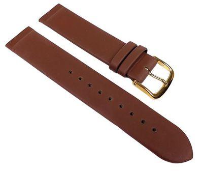 Leder Uhrenarmband Braun Anstoß zum einklemmen/verschrauben 22544G – Bild 1