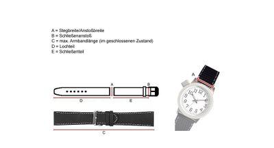 Uhrenarmband Leder weich mit Naht Rot Graf Miami 22556G – Bild 2