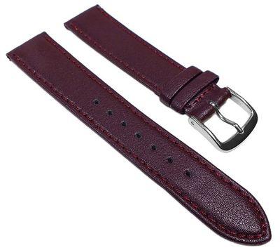 Uhrenarmband Leder rot | weiches Kalbnappa weinrot 22560S
