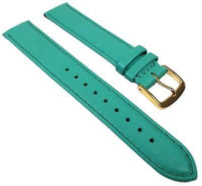 Miami Ersatzband Uhrenarmband Kalbnappa Band Türkis 22563G – Bild 1