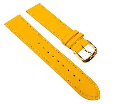 Uhrenarmband Leder Kalbnappa weich gelb Eulit Miami 22569G – Bild 1