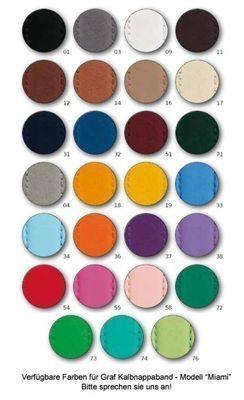 Uhrenarmband Kalbnappa Blau / Enzian Graf Miami 22574S – Bild 2
