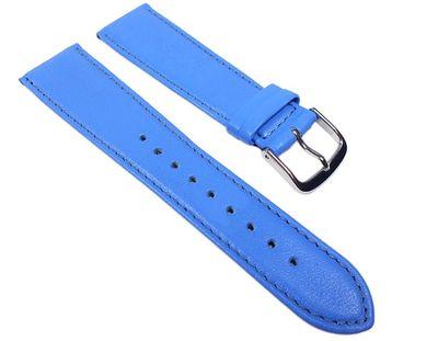 Uhrenarmband Leder Kalbnappa Blau / Himmelblau Miami 22576S