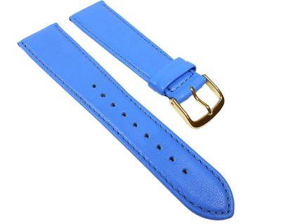 Uhrenarmband Leder Kalbnappa Blau / Himmelblau Miami 22577G