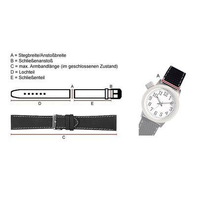 Minott Uhrenarmband   Kalbnappa Leder Kupfer-Braun weich mit Naht 22582S – Bild 2