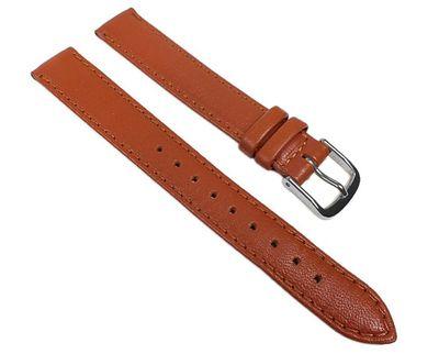 Minott Uhrenarmband   Kalbnappa Leder Kupfer-Braun weich mit Naht 22582S – Bild 1