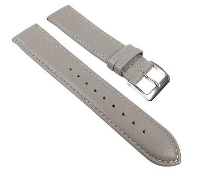 Uhrenarmband Kalbnappa Leder weich grau Graf Miami 22586S