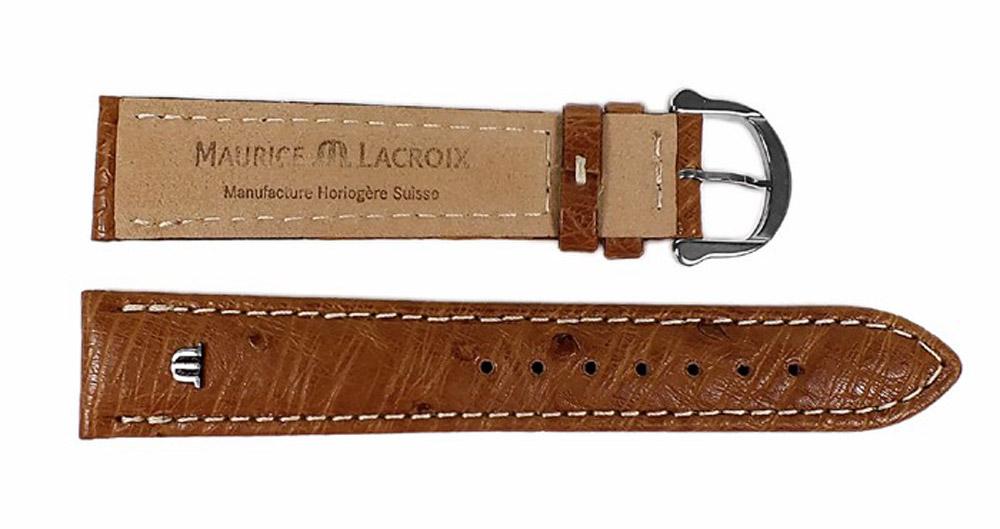 Lacroix Echt Braun Leder Maurice Uhrenarmband Strauß 22625s m0wn8N