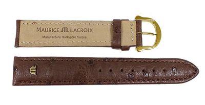 Maurice Lacroix Ersatzband Uhrenarmband Straußenleder Band Dunkelbraun 22630G – Bild 2