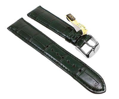 Louisiana Ersatzband Uhrenarmband Krokodilleder Dunkelgrün 22726S – Bild 1