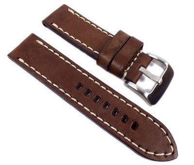 Vintage Uhrenarmband 22mm Fliegerband Optik Leder Braun 22831S – Bild 1