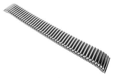 Minott Flex Uhrenarmband Edelstahl Zugband Silbern glänzend 22853S