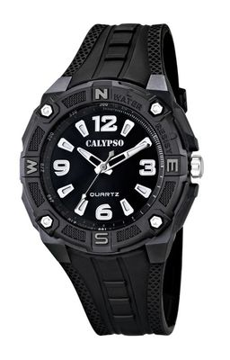 Calypso Armbanduhr Herrenuhr Analoguhr schwarz mit Beleuchtung 10 ATM K5634/6 – Bild 1