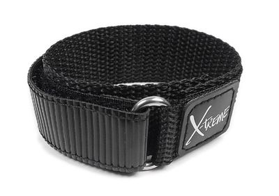 Minott Uhrenarmband 18mm  20mm | Klettband Textil schwarz 22870