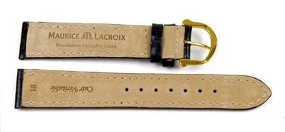 Maurice Lacroix  XL Ersatzband   Kalbsleder-Louisiana, schwarz 22937G – Bild 2