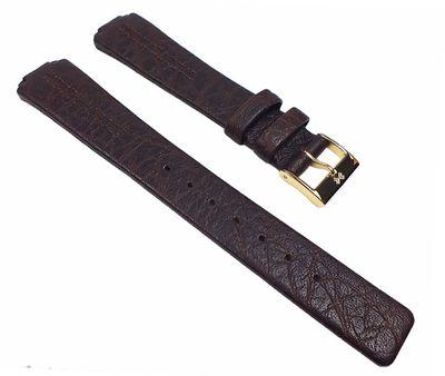 Skagen Ersatzband Uhrenarmband Leder Band Dunkelbraun für Skagen Damenmodell 433SSL – Bild 1