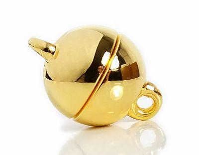 Minott Magnetschließe - Verschluss für Ketten und Schmuck 925/- Silber / vergoldet 22972 – Bild 1