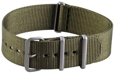 Minott Ersatzband Uhrenarmband Nato Band Durchzugsband Nylon Olivgrün 22mm 22986 – Bild 2