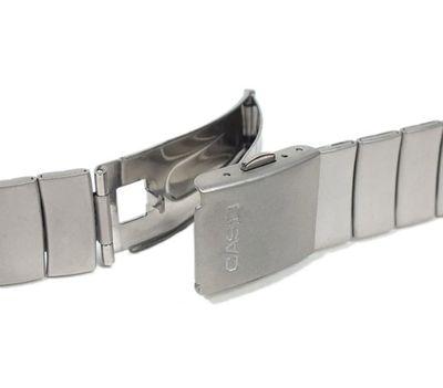 Casio Uhrenarmband 17mm | Edelstahl silbern matt | DB-37HD-7 DB-37HD – Bild 3