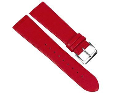 Leder Uhrenarmband Rot Anstoß zum einklemmen/verschrauben passend zu Skagen, Boccia, Bering, Rolf Kremer, DD, Obaku u.v.m 23095S – Bild 1