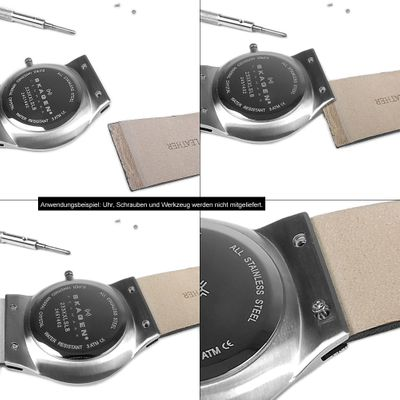 Ersatzband Leder Dunkelblau passend zu Skagen Boccia 23097S – Bild 3