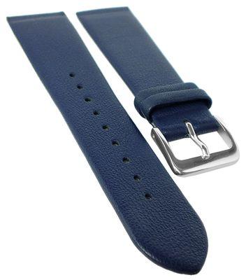 Graf Uhrenarmband | Leder dunkelblau | Anstoß zum verschrauben 23097S – Bild 1
