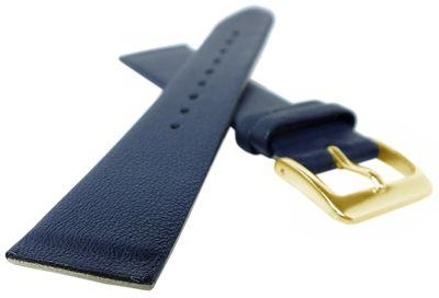 Graf Uhrenarmband | Leder dunkelblau | Anstoß zum verschrauben 23098G – Bild 2