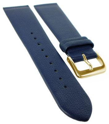 Graf Uhrenarmband | Leder dunkelblau | Anstoß zum verschrauben 23098G – Bild 1