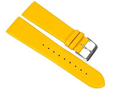 Kopenhagen Ersatzband Uhrenarmband Kalbsleder Band Gelb passend zu Skagen / Boccia 23099S