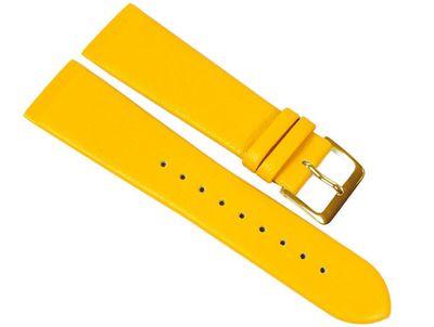 Kopenhagen Ersatzband Uhrenarmband Kalbsleder Band Gelb passend zu Skagen / Boccia 23100G