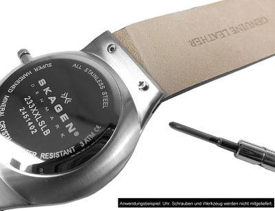 Kopenhagen Ersatzband Uhrenarmband Kalbsleder Band XL weiß passend zu Skagen / Boccia 23118S – Bild 4