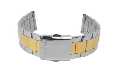 Casio Collection Uhrenarmband 20mm Edelstahl Bicolor MTP-1234 – Bild 2